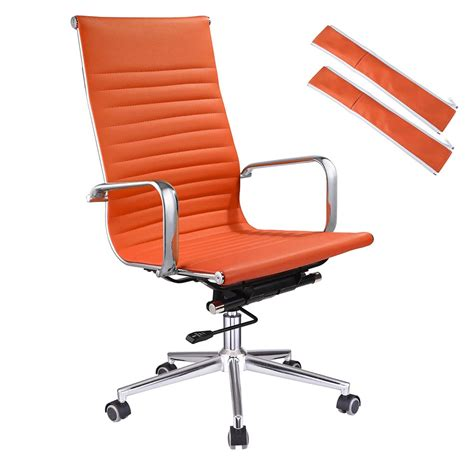 Office Chairs That Sit Higher Ergonomic High Back Pu Leather Office Chair Computer Desk