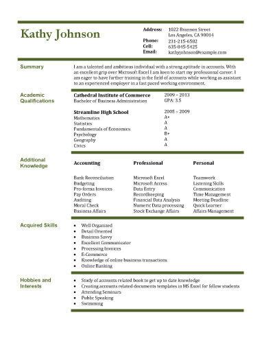 Resume Sles For College Students Accounting 13 Student Resume Exles High School And College