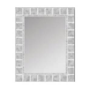 mirror glass home depot glacier bay 30 in x 24 in glass block rectangle mirror