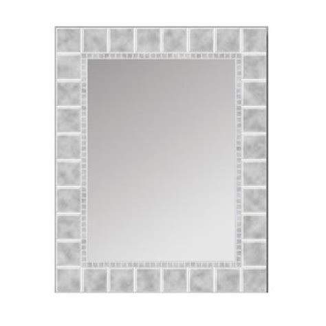 glacier bay 30 in x 24 in glass block rectangle mirror