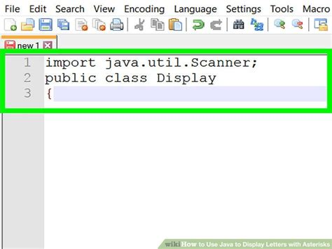 java program to print pattern of alphabets how to use java to display letters with asterisks with