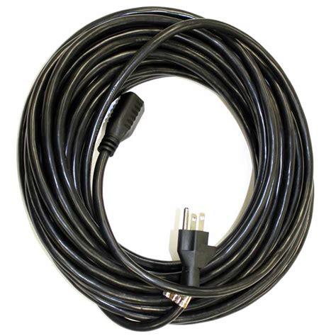 black extension cord 50 foot 16 3 black extension cord central vacuum factory