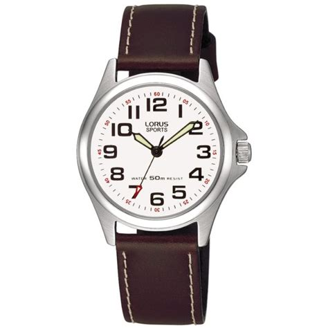 womens analogue brown leather rrs51lx9 lorus