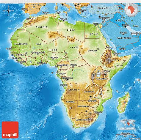 africa map sea physical 3d map of africa political shades outside