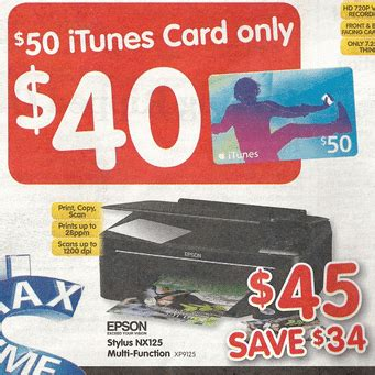 How To Get A 50 Itunes Gift Card For Free - get a 50 itunes card for 40 at dick smith until monday save 20 gift cards on sale