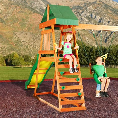 backyard discovery prescott cedar wooden swing set backyard discovery prescott cedar wooden swing set free
