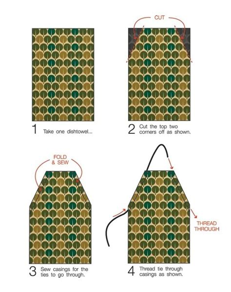 pattern for apron with towel dish towel apron for kid just dish towel and ribbon my