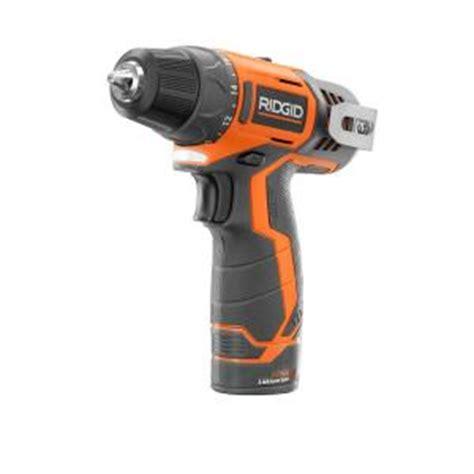 ridgid 12 volt lithium ion cordless drill kit r82005sb