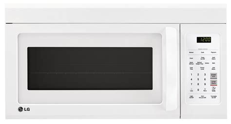 Microwave Oven Lg lg 1 8 cu ft the range microwave lmv1852sw the