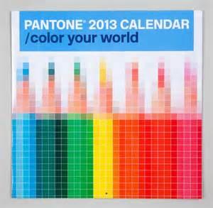 pantone color chips pantone 2013 calendars pentagram collabcubed