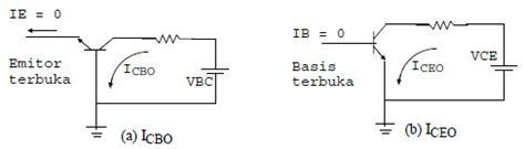 rumus transistor bipolar diagram arus bocor transistor elektronika dasar