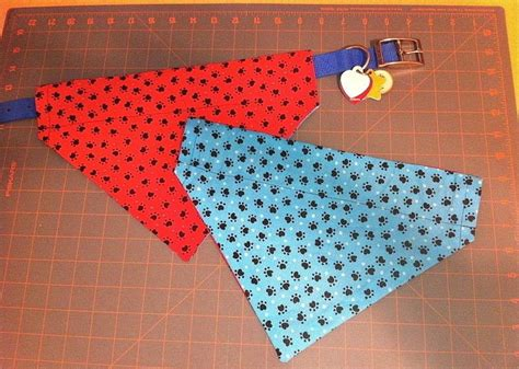 reversible over the collar dog bandana 183 how to make a