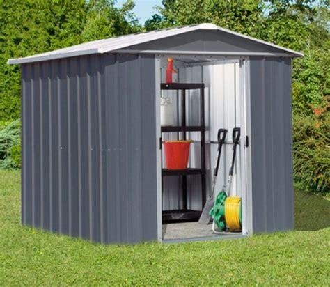 abri de jardin gris anthracite abri de jardin m 233 tal yardmaster 2 33 m 178 couleur gris anthracite kit d ancrage inclus trigano