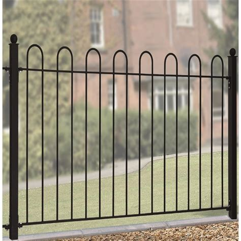 metal fence sections court metal panel 37in steel fencing the garden factory