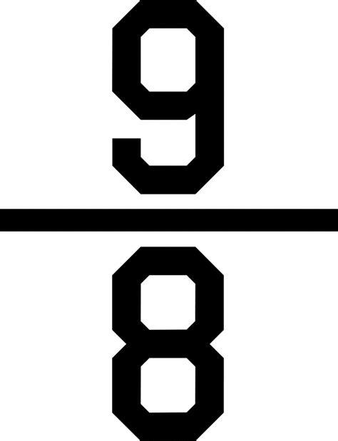 clipart etc numerical fraction 9 8 clipart etc
