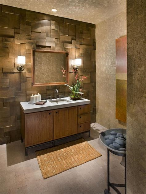 wood walls in bathroom rustic neutral bathroom hgtv