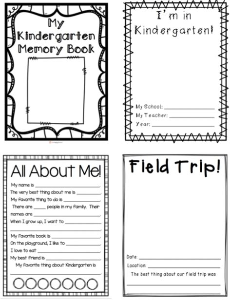 Kindergarten Memory Book Thehappyteacher Free Printable Memory Book Templates