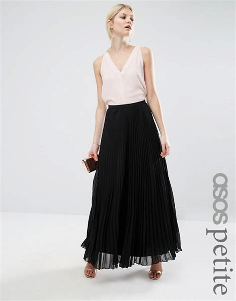 asos asos pleated maxi skirt