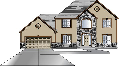 clipart house design front