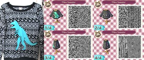 acnl emo animal crossing qr code trex sweater by vidimus78 on
