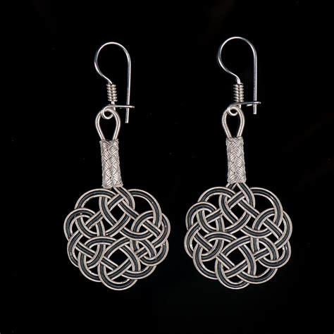 Sterling Earrings Handmade - handmade silver kazaz knot earrings 4 boutique ottoman