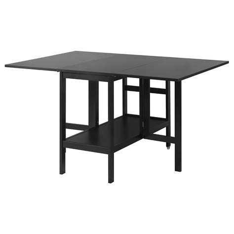 drop leaf dining table ikea barsviken drop leaf table black 45 90 135x93 cm ikea