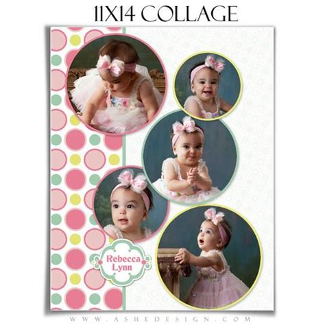 collage template baby ashedesign 11x14 baby collages ashedesign