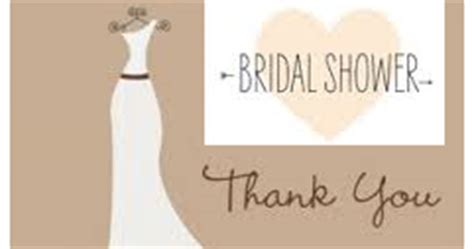 Thank You Messages! : Bridal Shower