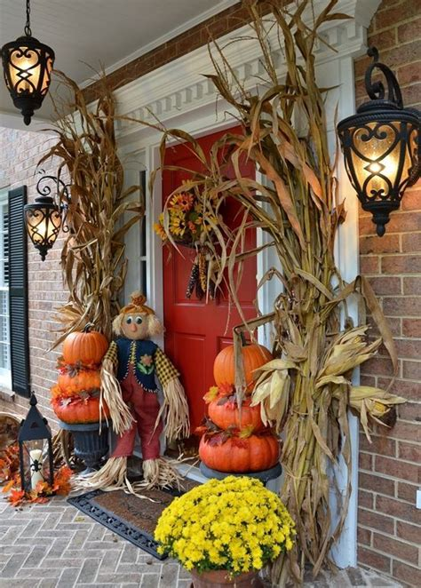 fall decorations for outside the home 57 cozy thanksgiving porch d 233 cor ideas digsdigs