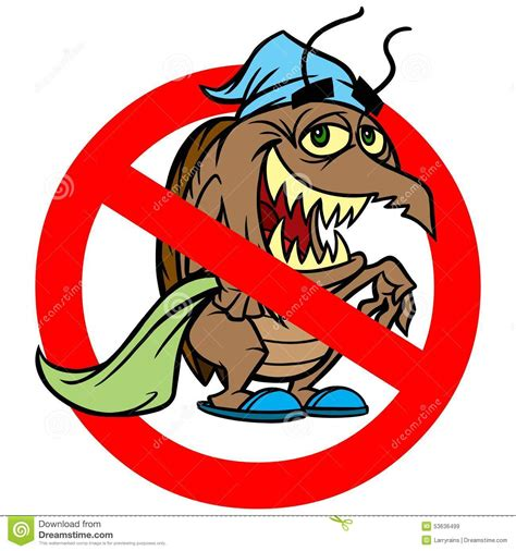 bed bug cartoon bed bug ban stock vector image 53636499