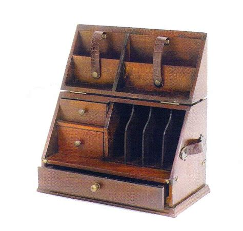 Wooden Desk Top Organizers Wood Desktop Organizer Letter Box Leather Handles