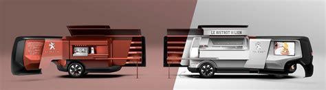 food truck design concept peugeot foodtruck concept render car body design