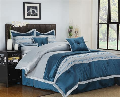 7 12 piece bedding comforter set shams decorative