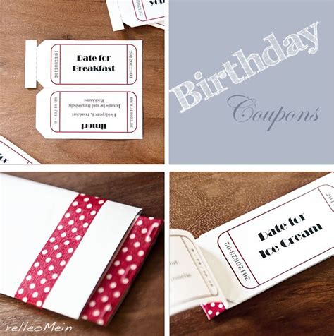 diy vouchers birthday coupon coupon voucher relleomein diy und