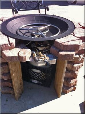 diy brass pit burner clean burning outdoor firepits propane burner authority