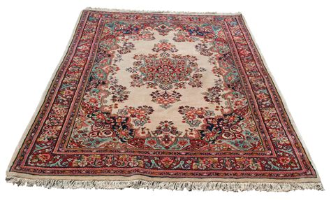 ivory sarouk rug vintage carpet mint condition 20255