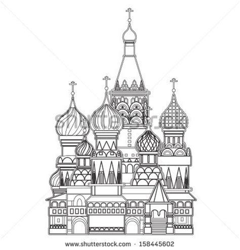 For Peace Moskav basil cathedral moscow vector stock vector royalty