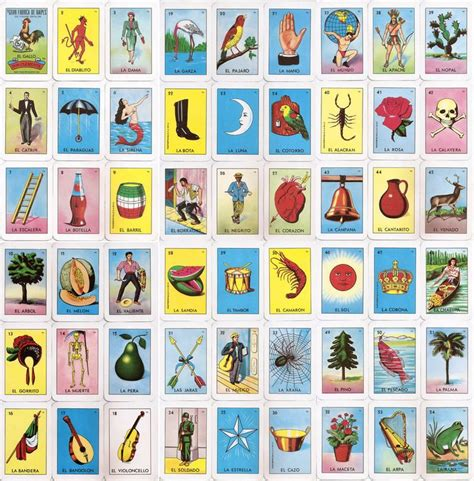 mexican lottery bingo quot loteria quot cards tarot pinterest