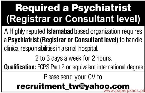 Psychiatrist Requirements by Psychiatrist Required Paperpk