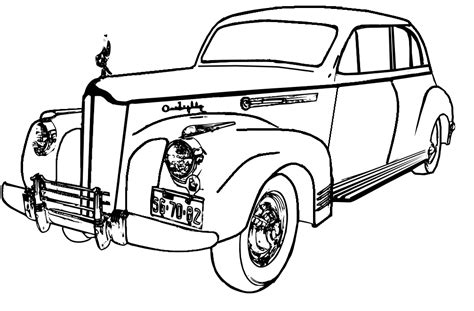 coloring page of old car classic cars coloring pages az coloring pages