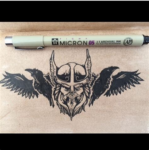 pen ink tattoo odin sketches www topsimages