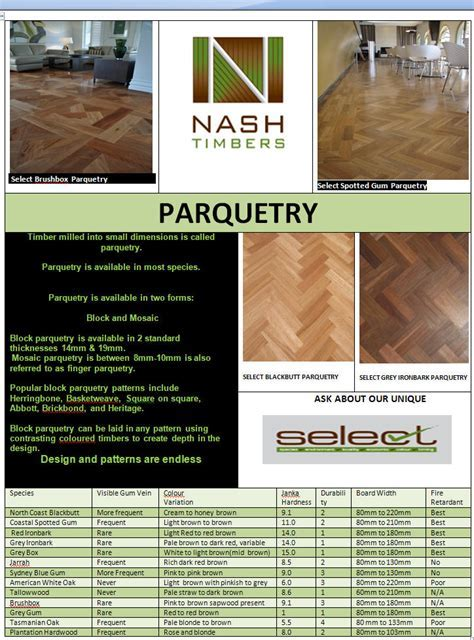 NASH TIMBERS PARQUETRY