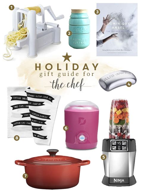 christmas gifts for home chefs gift guide for the chef frugal beautiful