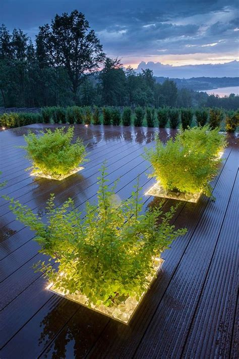 Hello Garden Light With Planter by Plant Linear Lighting Outdoor Plant Feature Led