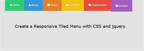 creating responsive css creating a responsive tiled menu with css and jquery