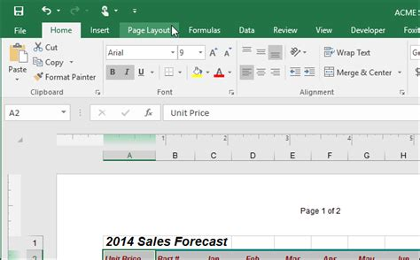 creating header and footer in excel how to make the header and footer different on the first