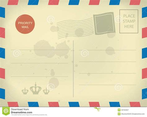 Vintage Blank Postcard Template Templates Pinterest Postcard Template Powerpoint Postcard Template