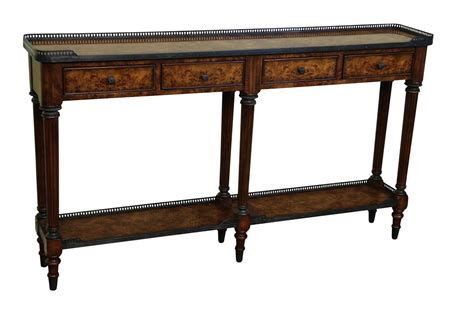 narrow console table antique burl walnut narrow console table luois xv reproduction