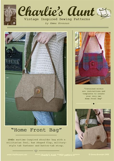 static pattern rule make sewing pattern to make the home front bag pdf pattern