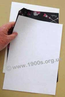 Make Carbon Paper - document duplication with carbon paper in mid 20th century